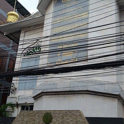 Tampak Darul Aman Mosque dari depan Soi-7 Petchaburi Road, Bangkok