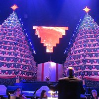 The incredible 'Singing Trees'. There's over 100 singers in each 40 foot tree. Great, super, awesome singing and music