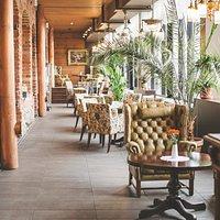 Chanel side terrace.