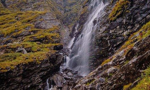 Waterfall shot with long exposure