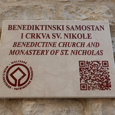 Benedictine Church and Monastery of St.Nicholas Wall Sign.