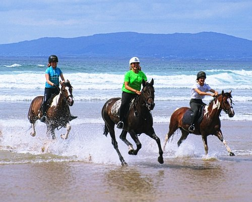 Experienced riders can enjoy a canter in the ocean.