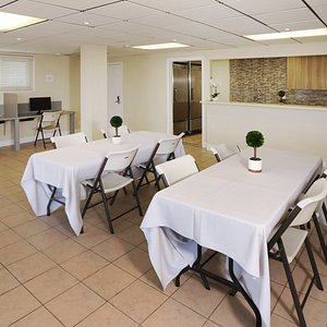 Hospitality room and business center.  Equipped with full kitchen.