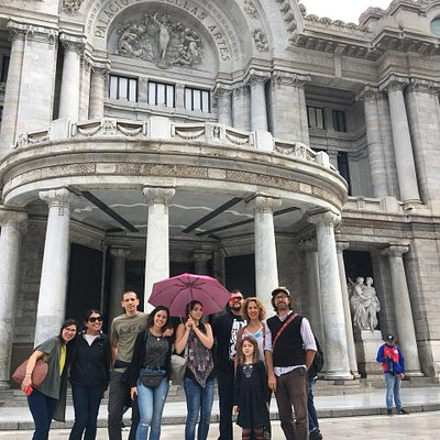 The most beautiful theatre in the world!! the palace of Bellas Artes that is also the meeting of Free Walking Tour Mexico city at 10 am every day!