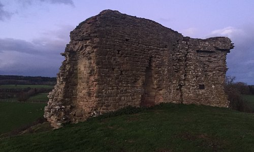 The main remnants of the castle.
