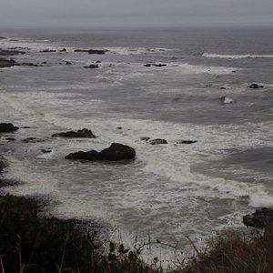The ocean was wild