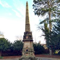 The W J Clement memorial obelisk