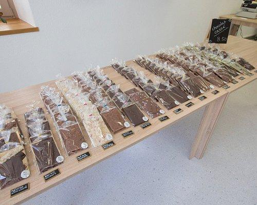 Choix de plaques de chocolat en vrac