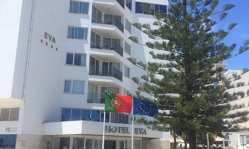 Hotel next to marina.