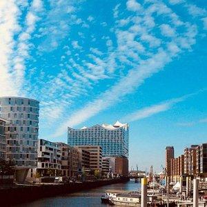 View from HafenCity to Elbphilharmonie