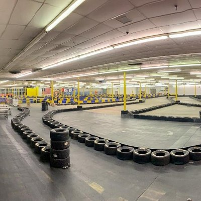 """View of our """"Speed"""" Course...you can see the """"Pro"""" Course in the background. We combine them both to create """"MegaTrack!"""