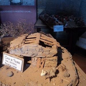 Maqueta de casa utilizada en Barranca Larga