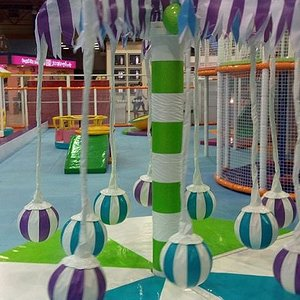 Skyzone trampoline park playing courts are uniqus and well protected.