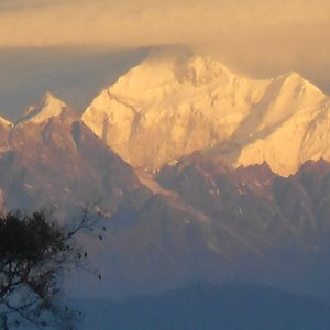 Ice clad mountain view from Rameety Dara