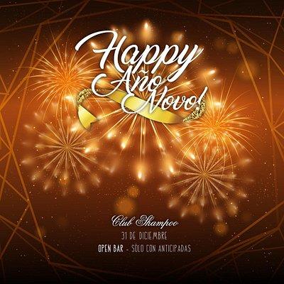 Feliz Año nuevo  31/12/18 Festaja con nosotros!!  Happy new year!!  31/12/18 Celebrate with us