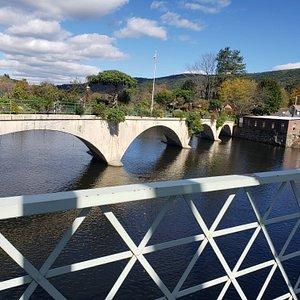 The Bridge of Flowers in Shelbourne Falls MA.