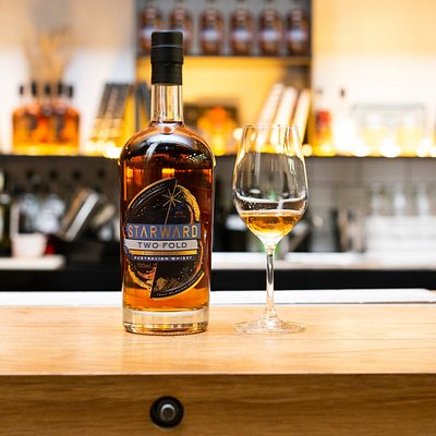 Two-Fold at the bar, Australia's favorite whisky