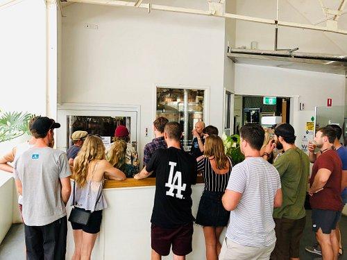 Touring at Byron bay brewery