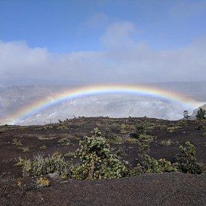 Rainbow over Kilauea Caldera