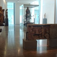 """View of the room where the sculpture """"Christ on the Donkey"""" is"""