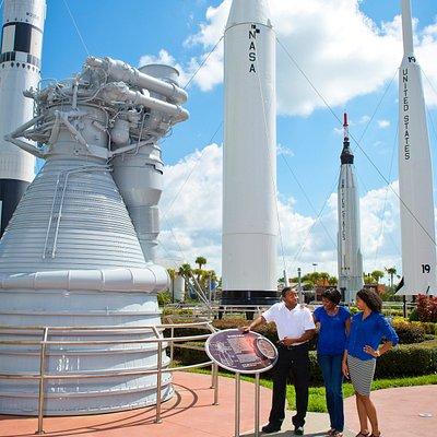 Looking around the rocket garden at Kennedy Space Center