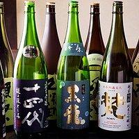 日本酒は全て原価での提供。 他店と比較して半分~三分の一程度の金額で全国の有名銘柄を楽しめます。