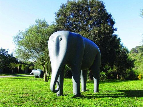 Parque de esculturas. Exteriores