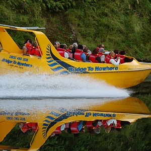 Amazing reflections on the Whanganui River as our boat takes clients back down to Pipiriki
