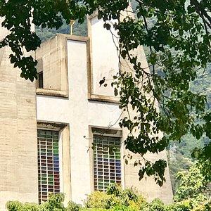The Avila stands proud behind Don Bosco Catholic Church
