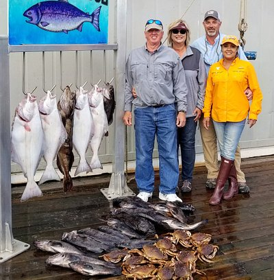 Limit of Halibut, Ling cod and Black Rockfish and crabs