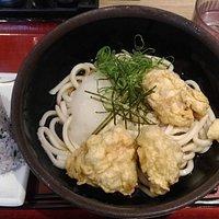 鶏天定食うどん560円