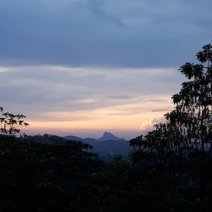 Stunning sunset - the view from my room