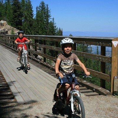 children will love the bike ride