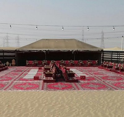 Arabian tent with bone fire... enjoy our Arabian hospitalities.  Our team will provide with Arabian coffee that is cooked on bone fire and the original Arabian date.