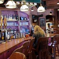 Bar area, friendly