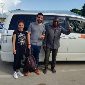 The trips back to italy from the airport Zanzibar with Mr OTHMAN ,it was very amassing