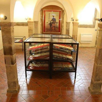 Vue intérieure du musée des enfants de troupe