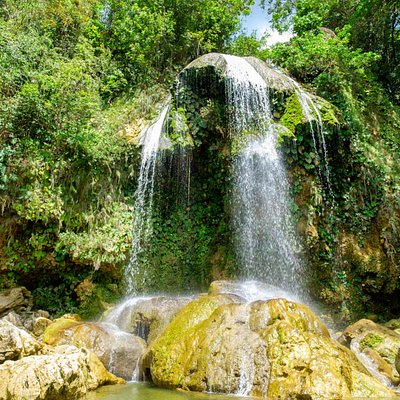 """This waterfall is near to the village of Soroa in the Province Pinar del Rio in Cuba. They call the area around the falls """"the Rainbow of Cuba"""" because of the Rainbow that's often seen there. Excellent place to have a refreshing bath."""