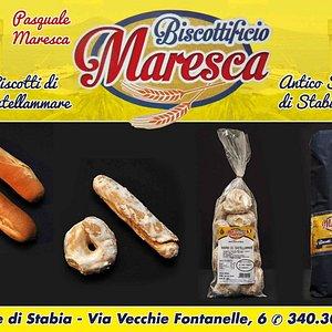Produzione di prodotti dolciari da forno. Biscotti e taralli di Castellammare.