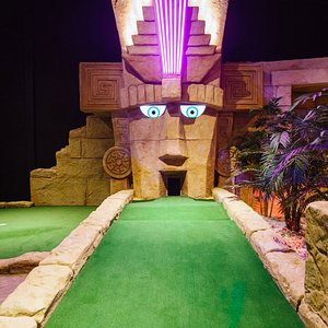 Tackle the Tropical Trail or the Ancient Explorer, our indoor 18-hole mini golf courses