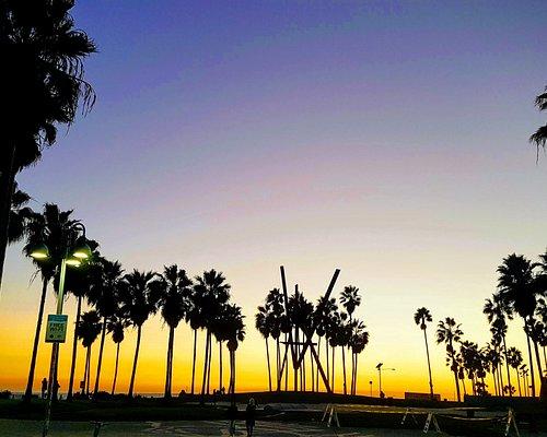 Beautiful sunset at Venice Beach