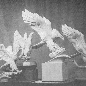 Alcuni modelli preparatori per la Diving Eagle