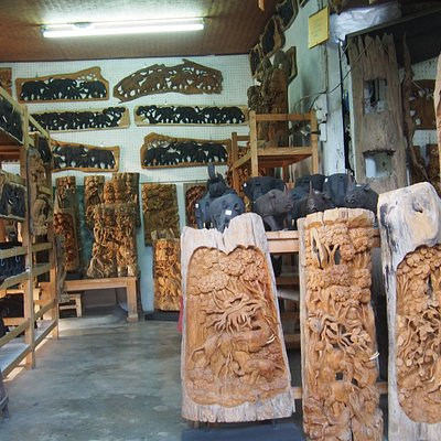 Beautiful wood carving made by the local people  in Chiangmai Thailand.