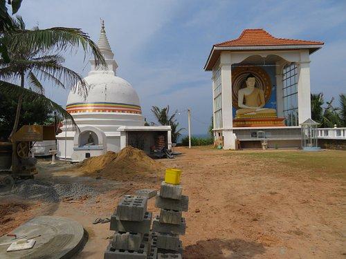 Stupa and statue