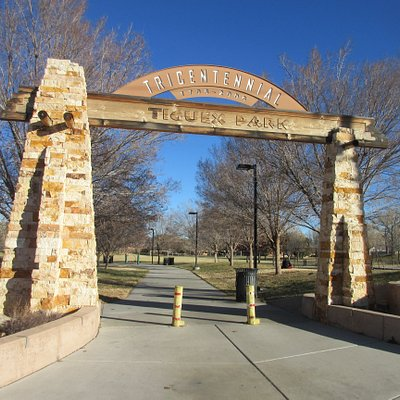 Here is the gate to the park