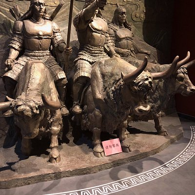 Wonderful sculptures and imagery demonstrating the value of the Yak to the Tibetan economy, safety, and culure.