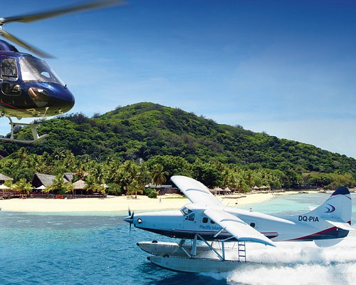 Helicopter and seaplane transfers to all Fiji Islands and resorts as well as scenic flights and day trip packages.
