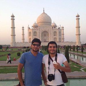 Guest with Tajmahal