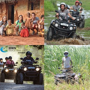 QUAD TOUR – Half Day (03 HRS) (1 OR 2 Person per Quad) The Quad Tour is a unique off-road drive experience.  Its a nature day tour where you will learn more about the beauty of Zanzibar. Ride through half tropical fruit plantations and rice fields!  Enjoy the ride on modern and comfortable quads.  The nature lovers will receive a brief introduction prior to departure.