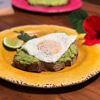 Avocado Toast with a fried egg on top!